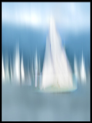 Art print titled Sailing by the artist Anette Ohlendorf