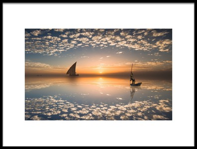 Art print titled Sailing by the artist Isam Telhami