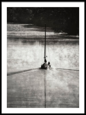 Art print titled Sailing On the Smoky River by the artist Liyun Yu
