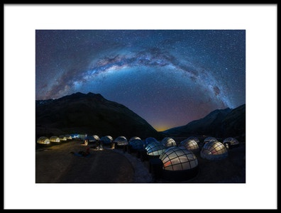 Buy this art print titled Salkantay Sky Dome In Night by the artist Dianne Mao