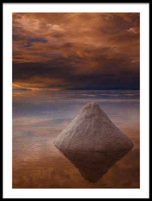Art print titled Salt Cone by the artist Peter Banny