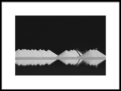 Art print titled Salt Production BW by the artist Rolf Endermann