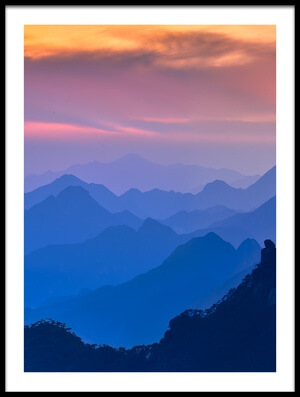 Buy this art print titled Sanqing Mountain Sunset by the artist Mei Xu