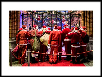 Art print titled Santas V by the artist Martin Johansson