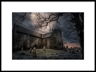 Art print titled Scary Night by the artist Morten Golimo