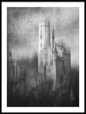 Buy this art print titled Schloss Lichtenstein by the artist Krisztina Lacz