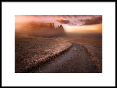 Art print titled Sciliar Dolomia by the artist Luca Rebustini
