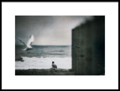 Art print titled Sea, Alone by the artist Teruhiko Tsuchida
