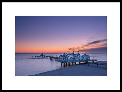 Art print titled Sea Bridge Sellin by the artist Alexander Bartl