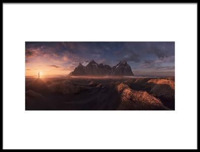 Art print titled Sea of Dunes by the artist Carlos F. Turienzo