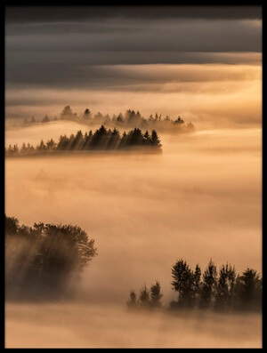 Art print titled Sea of Fog by the artist Nina Pauli