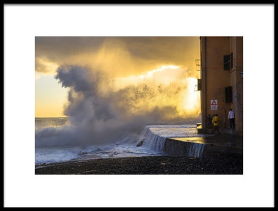 Art print titled Sea Storm In Genoa by the artist Alessandro Traverso