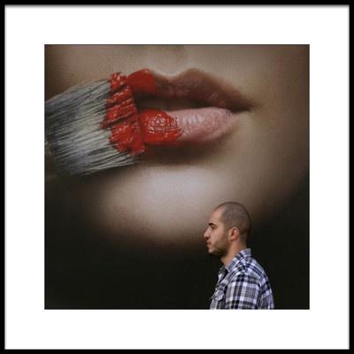 Art print titled Seduction by the artist Jef Flour