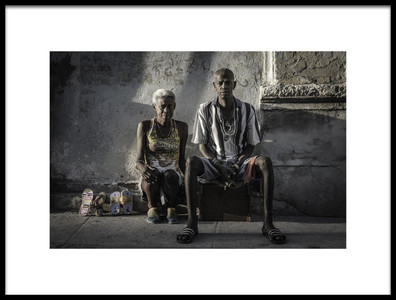 Art print titled Selling Shoes by the artist Andreas Bauer