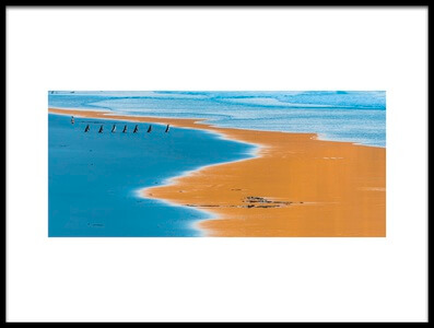 Buy this art print titled Seven In the Beach by the artist miquel angel artús illana