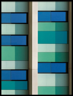 Buy this art print titled Shades of Green and Blue by the artist Jef Van den Houte