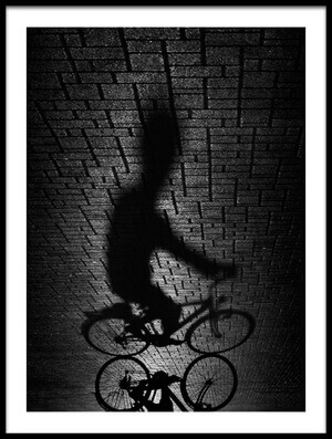 Art print titled Shadow Bike by the artist Antonio Grambone