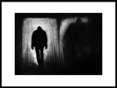 Art print titled Shadow Follows by the artist Marianne Siff Kusk