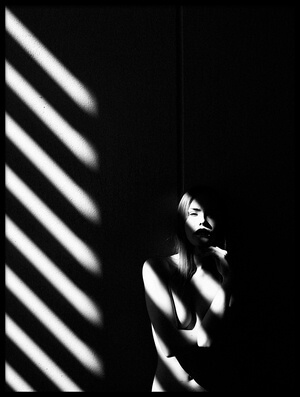 Art print titled Shadowplay by the artist Ruslan Bolgov (Axe)