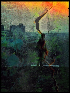 Art print titled Shadows (one Way) by the artist Dalibor Davidovic