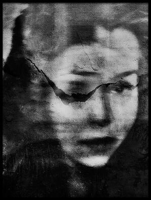 Art print titled Shadows (portrait-splitting) by the artist Dalibor Davidovic
