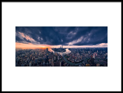 Art print titled Shanghai In the Cloud by the artist Vview Chen