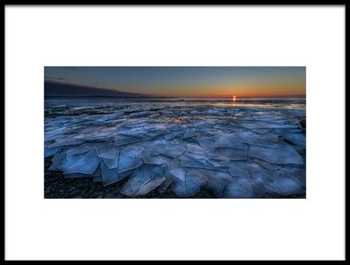 Art print titled Sheets of Ice by the artist Susan Breau