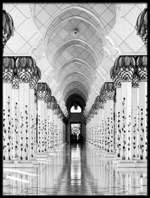 Buy this art print titled Sheik Zayed Mosque by the artist Hans-Wolfgang Hawerkamp
