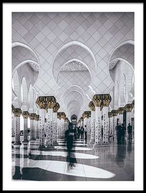 Buy this art print titled Sheikh Zayed Grand Mosque by the artist Carmine Chiriacò