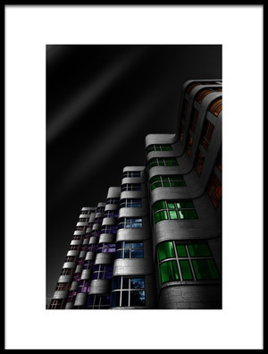 Art print titled Shellhaus Color by the artist Matthias Hefner