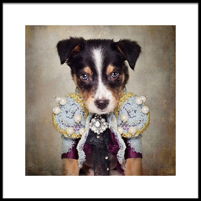 Art print titled Shelter Pets Project  Loki by the artist Tammy Swarek