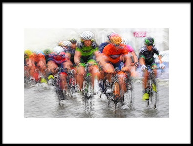 Art print titled Shockwave Riding the Cobblestones by the artist Lou Urlings
