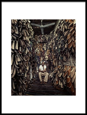 Buy this art print titled Shoes Maker by the artist Mahmoud Fayed
