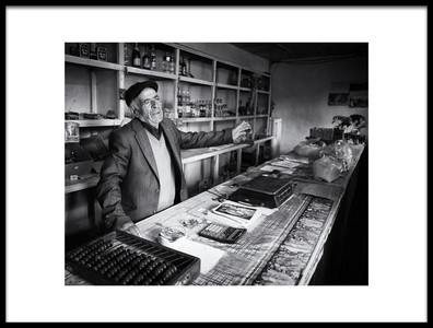 Art print titled Shopkeeper by the artist Marcel Rebro