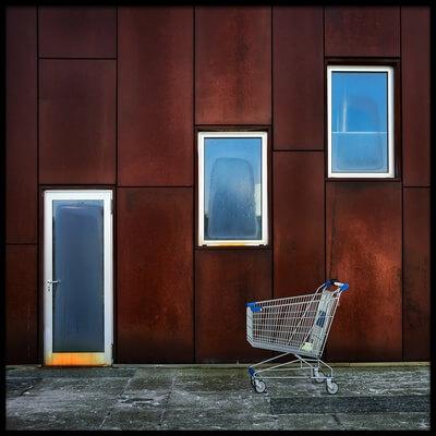 Art print titled Shopping Center by the artist Fiorenzo Rondi
