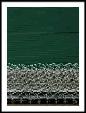 Buy this art print titled Shopping Trolleys by the artist Inge Schuster