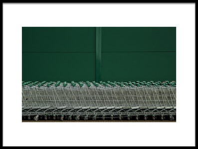 Art print titled Shopping Trolleys II by the artist Inge Schuster