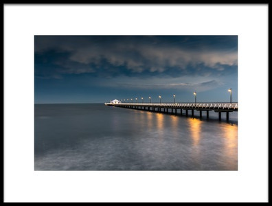 Art print titled Shorncliffe Pier, Brisbane by the artist Christopher Pérez Liedl
