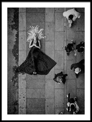Art print titled Sidewalk, a Daily Life Perspective by the artist Alejandro Marcos