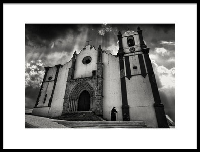 Art print titled Silves Cathedral by the artist Frank Wijn