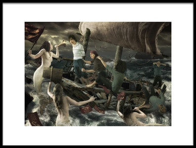 Art print titled Sirens Song by the artist Christophe Kiciak