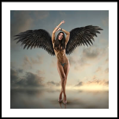 Buy this art print titled Sissy Black Wings by the artist DDiArte
