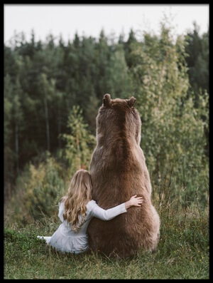 Art print titled Sister Bear by the artist Olga Barantseva
