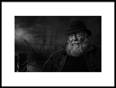Art print titled Sitting at the Dock of the Bay by the artist Claude Brazeau