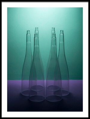 Art print titled Six Conical Shapes by the artist Brig Barkow