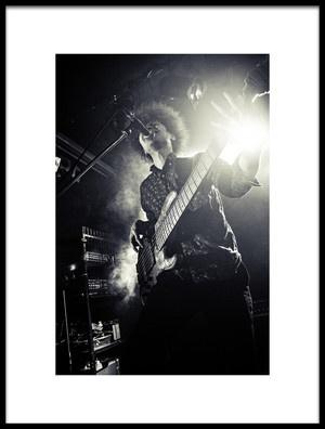 Buy this art print titled Six String Bass Player by the artist Kenji Nakamatsu
