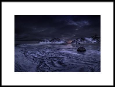 Art print titled Skagsanden Beach Lofoten by the artist Ronny Olsson