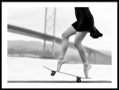 Buy this art print titled Skater Girl by the artist Howard Ashton-Jones