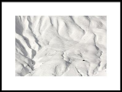 Art print titled Ski Tracks by the artist Uschi Hermann