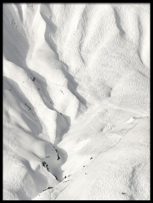 Buy this art print titled Ski Tracks by the artist Uschi Hermann